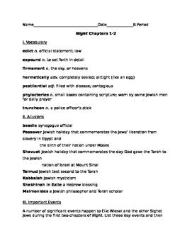 Elie Wiesel's Night Resources