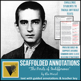 """Elie Wiesel's """"Perils of Indifference"""" Speech with Scaffolded Annotations"""