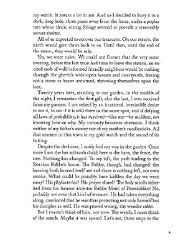 "Elie Wiesel's ""The Watch"" packet"
