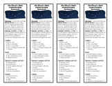 Elie Wiesel's Night Guided Reading Bookmark