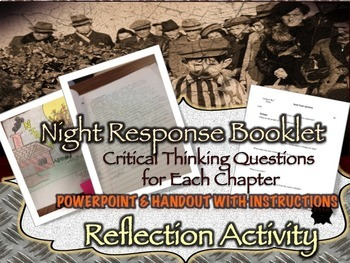 Elie Wiesel's Night Response Booklet with Chapter Questions