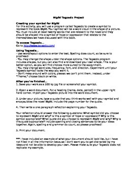 Elie Wiesel's Night: Tagxedo Symbol Project