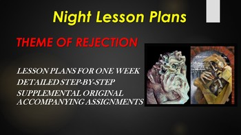 Night by Elie Wiesel - Weekly Lesson Plans - Theme of Rejection