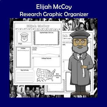 Elijah McCoy Biography Research Graphic Organizer