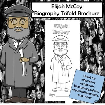 Elijah McCoy Biography Trifold Brochure