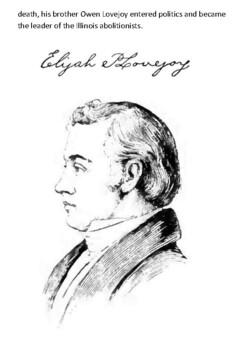 Elijah Parish Lovejoy Handout