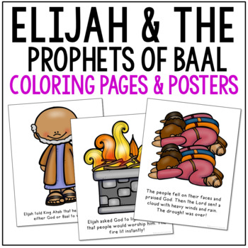 ELIJAH AND THE PROPHETS OF BAAL Bible Story Coloring Pages and ...