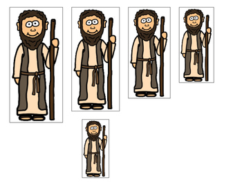 Elijah and the Widow 4 Size Sequence printable games. Preschool Bible Study.