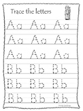 Elijah and the Widow A-Z Tracing printable worksheets. Preschool Bible Study