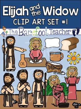 Elijah and the Widow Bible Clip Art Set 1