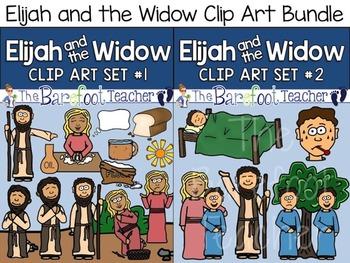 Elijah and the Widow Bible Clip Art Sets 1 & 2 Bundled