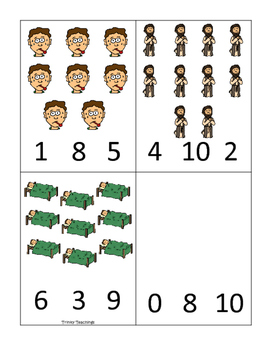 Elijah and the Widow Count and Clip printable game. Preschool Bible Study.