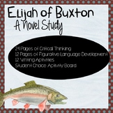 Elijah of Buxton Novel Study Short Answer, Figurative Language, Writing EDITABLE