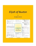 Elijah of Buxton Complete Literature and Grammar Unit