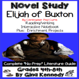 Elijah of Buxton Novel Study & Enrichment Project Menu