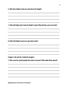Elijah of Buxton Comprehension Questions Packet