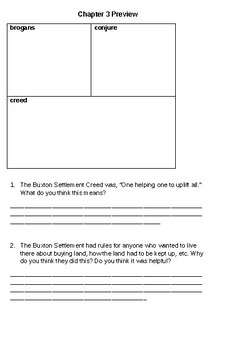 Elijah of Buxton (Level W) Guided Reading Questions and Calendar