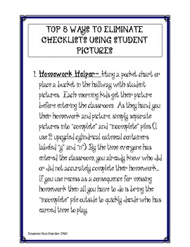 Eliminate Checklists and Keep Track with Student Pictures!
