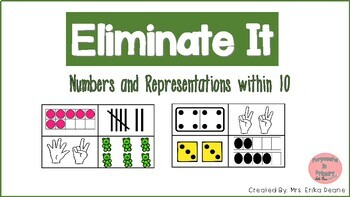 Eliminate It Bundle! Numbers & Representations, Math Facts and Shapes Included!