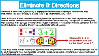 Eliminate It! Math Facts within 5