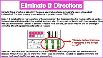 Eliminate It! Numbers and Representations 0-30
