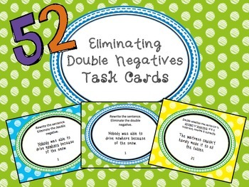 Eliminating Double Negative Differentiated Task Cards