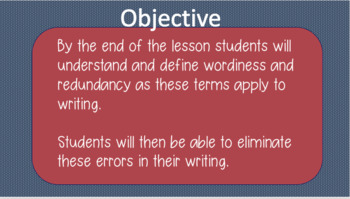 Eliminating Wordiness and Redundancy
