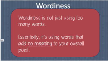 Eliminating Wordiness and Redundancy in Writing
