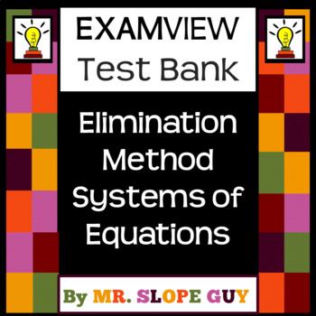 Elimination Method Systems of Equations Intro Bank Common Core 8.EE.C.8 Go Math