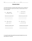 Elimination Method Worksheet