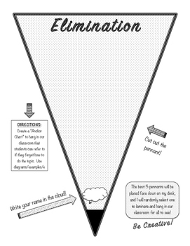 Elimination Pennant Anchor Chart / Graphic Organizer!  (Sy