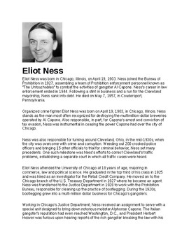 Eliot Ness Article and Assignment
