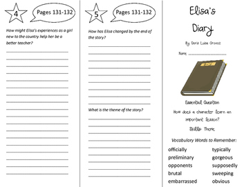 Elisa's Diary Trifold - Journeys 5th Grade Unit 1 Week 5 (2011)
