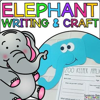 Elisabeth the Elephant {Animal Craftivity and Writing Prompts!}
