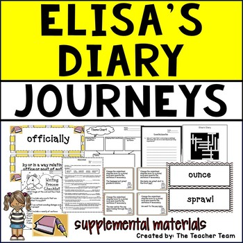 Elisa's Diary Journeys 5th Grade Unit 1 Lesson 5 Activities and Printables