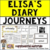 Elisa's Diary | Journeys 5th Grade Unit 1 Lesson 5 Printables