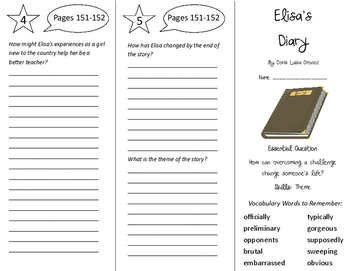 Elisa's Diary Trifold - Journeys 5th Grade Unit 1 Week 5 (2014, 2017)