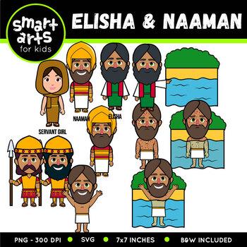 Elisha and Naaman Clip Art