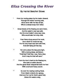 """Eliza Crosses the River"" by Harriet Beecher Stowe Poem an"