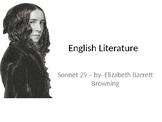 "Elizabeth Barrett Browning, sonnet 29, ""I think of thee!"","