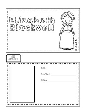 Elizabeth Blackwell Writing Tab Book