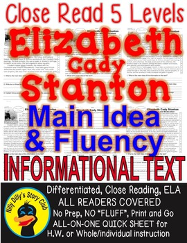 Elizabeth Cady Stanton ALL-READERS-COVERED 5 Level Passage