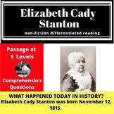 Elizabeth Cady Stanton Differentiated Reading Passage November 12