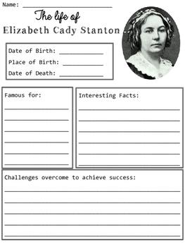 Elizabeth Cady Stanton Organizers