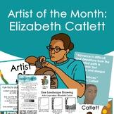Elizabeth Catlett Artist Portrait, Quote, and Handout/Distance learning Lesson