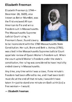 Elizabeth Freeman Handout