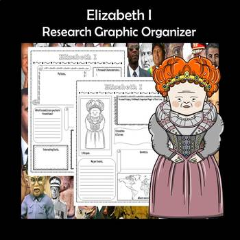 Elizabeth I Biography Research Graphic Organizer