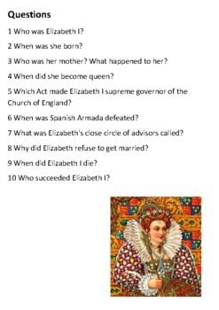 Elizabeth I Handout