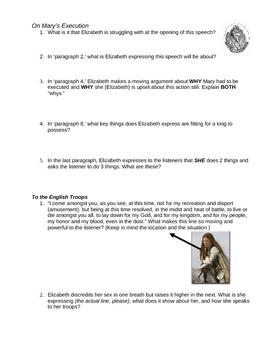 Elizabeth I Speech Reading Questions