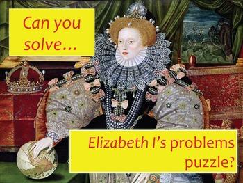 Elizabeth I's main problems PUZZLE Cryptogram